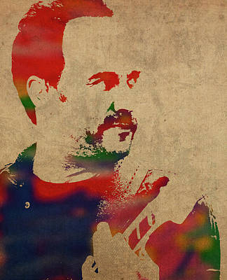 Dave Mixed Media - Dave Matthews Band Watercolor Portrait by Design Turnpike