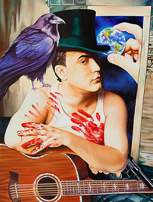 Painting - Dave Matthews-raven by Joshua Morton