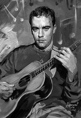 Acoustic Guitar Painting - Dave Matthews by Ylli Haruni