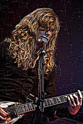 Digital Art - Dave Mustaine 1 by Joy McKenzie