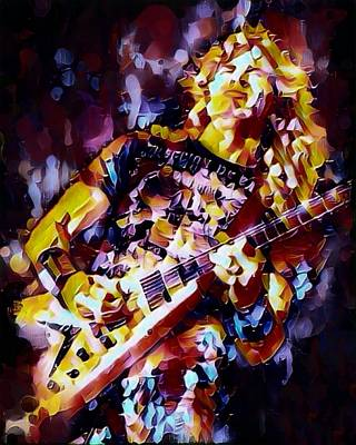 Heavy Metal Digital Art - Dave Mustaine Abstract by Scott Wallace
