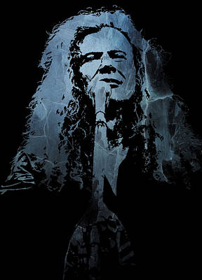 Dave Mustaine Digital Art - Dave Mustaine - Megadeth by Michael Bergman