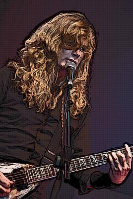 Digital Art - Dave Mustaine Pop Art by Joy McKenzie