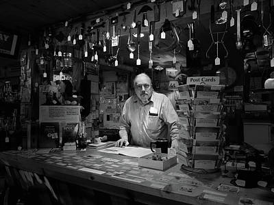 Photograph - Dave Of The Antique Shop by Nancy Griswold