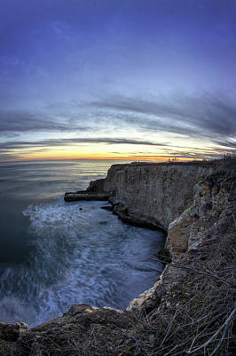 Davenport Bluffs At Sunset Art Print