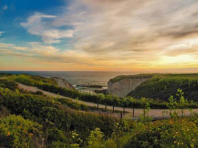 Davenport Postcard Sunset Art Print by Larry Darnell