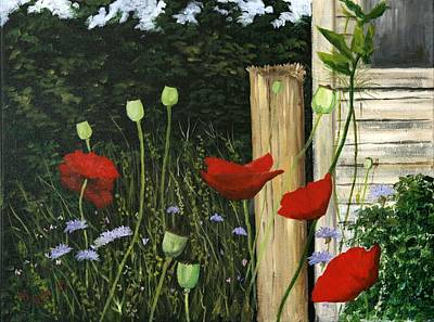 Painting - Dave's Garden by Phil Davis