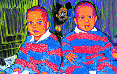 Painting - Dave's Twins by Candace Lovely
