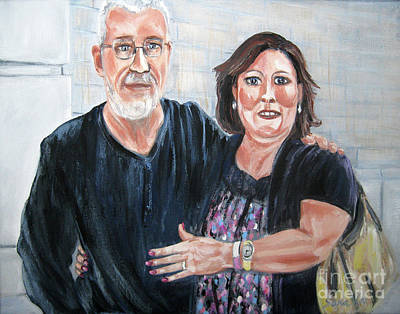 Painting - David And Nancy by Oksana Semenchenko
