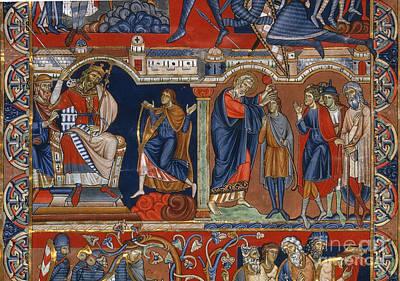 David And Saul Art Print by Granger