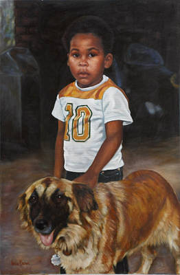 Painting - David And Sheba by Harvie Brown