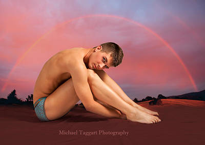 Art Print featuring the photograph David Ashley In Rainbow by Michael Taggart