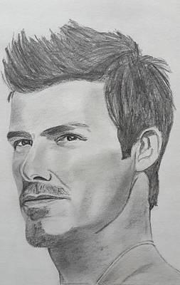 David Beckham Art Print by Premnath Mohan