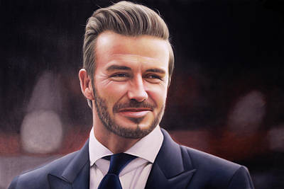 David Beckham Wall Art - Painting - David Beckham Oil Painting by One Art
