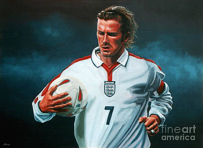 Athlete Painting - David Beckham by Paul Meijering