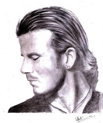David Beckham Wall Art - Drawing - David Beckham Portrait by Arun Mathew