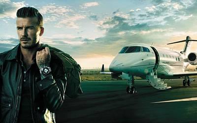 Airplane Digital Art - David Beckham by Super Lovely