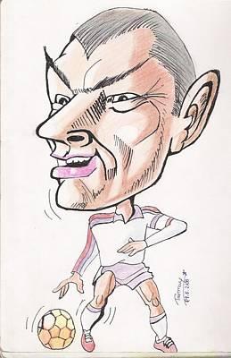 Pele Drawing - David Beckham by Tanmay Singh