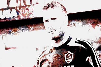 David Beckham The Legend Art Print by Brian Reaves