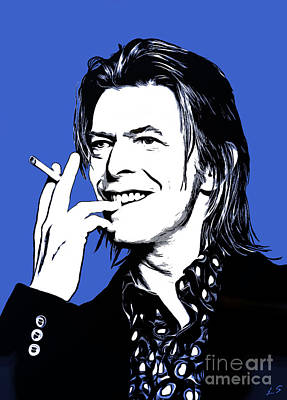 Drawing - David Bowie 004 by Sergey Lukashin