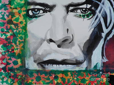 Painting - David Bowie 02 by Chrisann Ellis