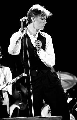 Black And White Photograph - David Bowie 1976 #2 by Chris Walter