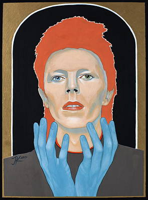 Painting - David Bowie 3 by Jovana Kolic