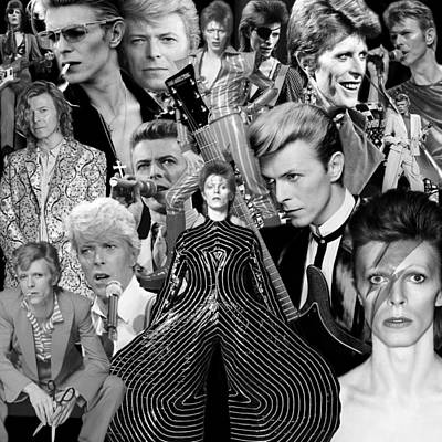 Photograph - David Bowie 7 by Andrew Fare