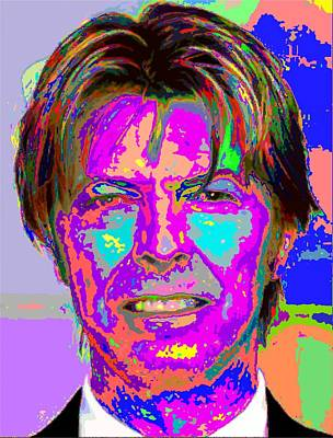 Painting - David Bowie - Abstract by Samuel Majcen