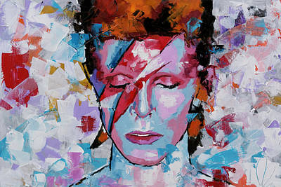 Painting - David Bowie Aladdin Sane by Richard Day