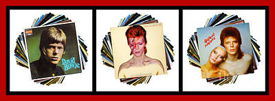 Digital Art - David Bowie Album Collection 2 by Wendy Wilton