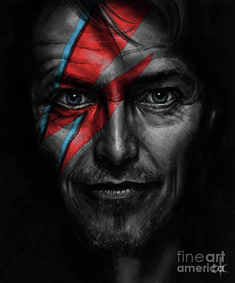 David Bowie Art Print by Andre Koekemoer