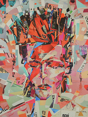 David Bowie Wall Art - Mixed Media - David Bowie Art Painting Print Canvas - Rebel, Rebel by Damon Gray