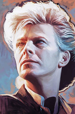 David Bowie Artwork 2 Art Print by Sheraz A