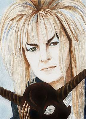 Stanford Drawing - David Bowie As Jareth by Amber Stanford