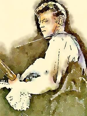 David Bowie Portrait Painting - David Bowie By John Springfield by John Springfield