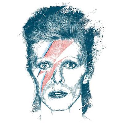 Digital Art Royalty Free Images - David Bowie Royalty-Free Image by Chad Lonius