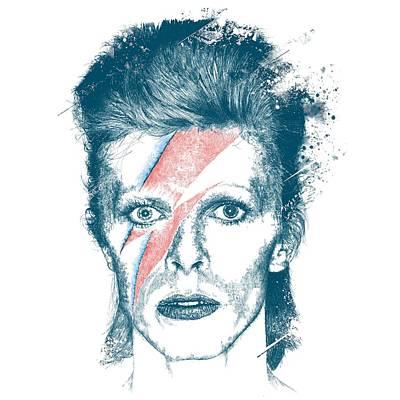 Ziggy Stardust Drawing - David Bowie by Chad Lonius