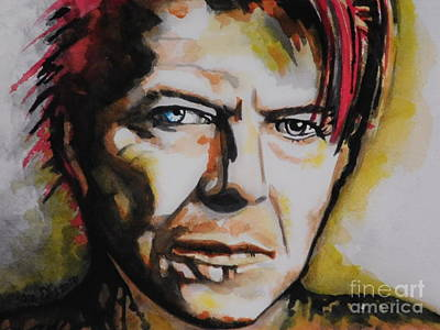Music Paintings - David Bowie by Chrisann Ellis