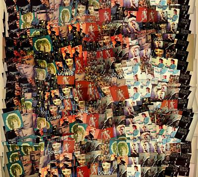 Spider Mixed Media - David Bowie Collage Mosaic by Dan Sproul