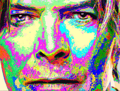 Painting - David Bowie - Colorful by Samuel Majcen