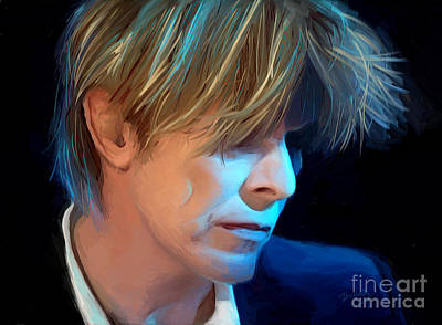 Digital Art - David Bowie by Dori Hartley