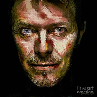 Musicians Digital Art - David Bowie by Dragica Micki Fortuna
