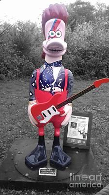 Photograph - Ziggy Stardusty Duck by Joan-Violet Stretch