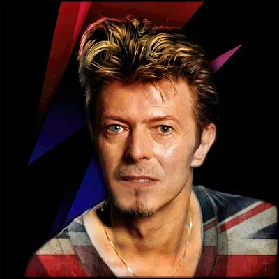 David Bowie - For Ever Young And Dreamer Original by Daniel Arrhakis