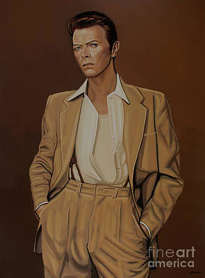 David Bowie Wall Art - Painting - David Bowie Four Ever by Paul Meijering