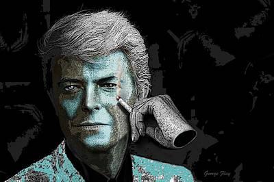 Digital Art - David Bowie by George Flay