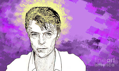 Drawing - David Bowie by Jason Tricktop Matthews