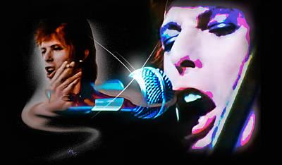 Photograph - David Bowie  - Jean Genie by Glenn Feron