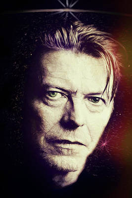 Digital Art - David Bowie by John Haldane